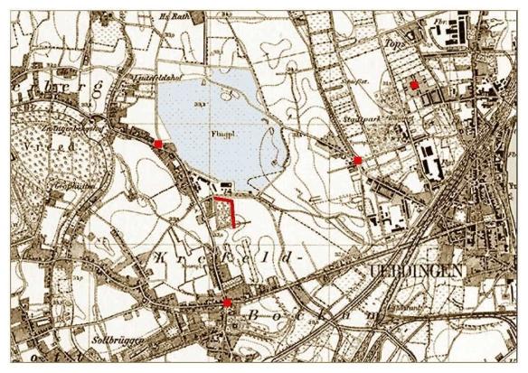 Königl. Preuss. Landesaufnahme 1892 / Stadtarchiv Krefeld